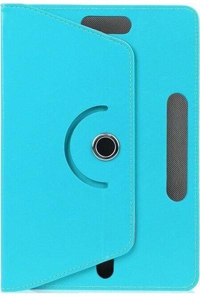 "Teknoliman Samsung Galaxy Tab S6 Lite P617 10.4"" Dönerli Standlı Deri Kılıf Turkuaz"