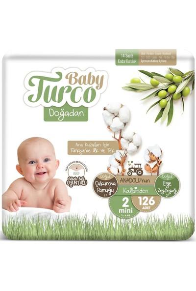 Baby Turco Doğadan 2 Numara Mini 3-6 kg 126 Adet