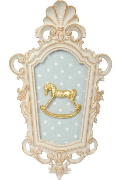 Dona De Miel Goldie Horse Dekoratif Tablo
