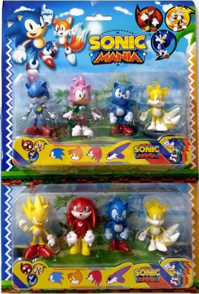 Hepsilazım Sonic Figürleri 8 Figürlü Sonic Mania Oyuncak Seti
