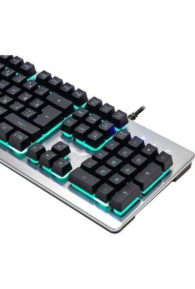 Rush Donzel RK808 Mekanik Hisli RGB Işıklı Oyun Klavyesi