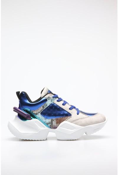 Shoerokee Gri - Mavi x Ocean Termo Kadın Sneaker
