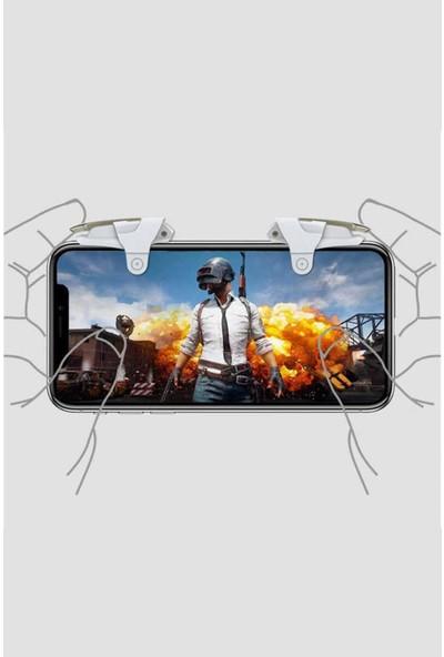 Asfal Pubg Tetik Tüm Telefonlar Için Çift Oyun Adaptörü Ateş Tetik Düğmesi