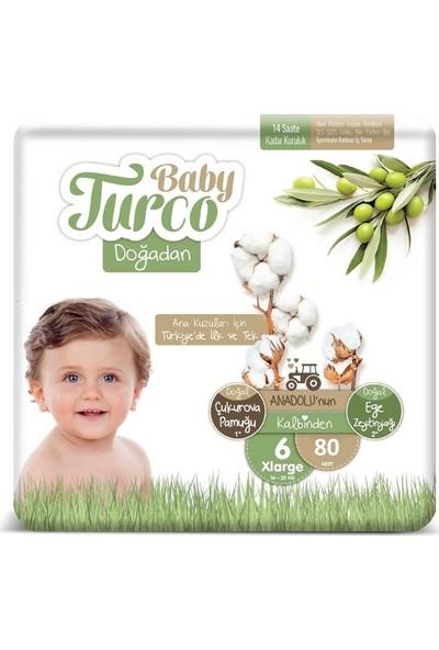 Baby Turco Doğadan 6 Numara Bebek Bezi 16+ kg Xlrge 80 Li