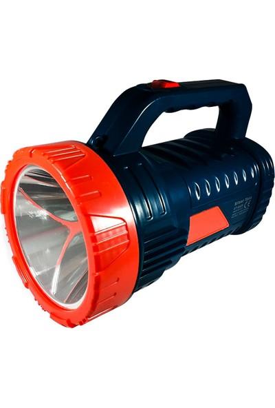 Silver Toss Projektör El Feneri Şarjlı + Işıldak 15 Watt Silver Toss ST-6608