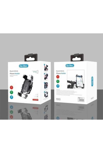 Go Des GD-HD709 Outdoor Bisiklet ve Motorsiklet Telefon Tutucu Siyah