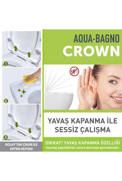 Aqua Bagno Crown Yavaş Kapanan Klozet Kapağı