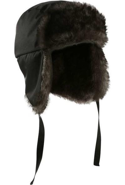 Meridyen Dükkan Kürklü Şapka Kışlık Meridyendukkan Kürklü Bere Isı Yalıtımlı