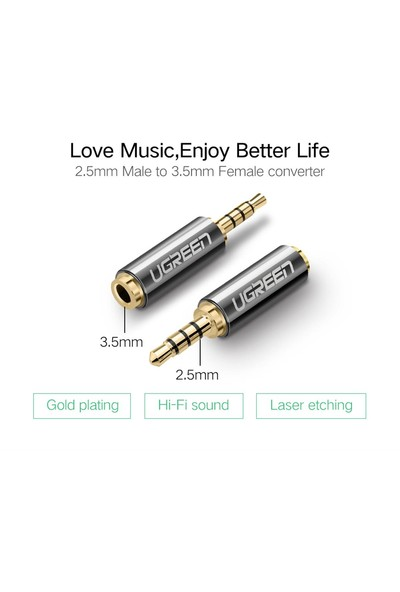 Ugreen 2.5mm To 3.5 mm Jack Dönüştürücü
