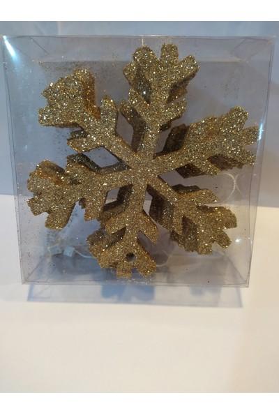 Mavi Boncuk Yılbaşı Noel Kar Tanesi Dekor Süsleri
