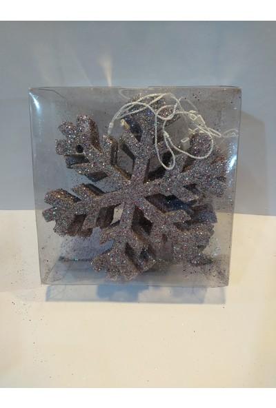 Mavi Boncuk Yılbaşı Noel Ağacı Kar Tanesi Dekor Süs