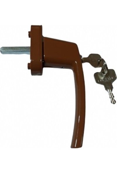 Ege Star Tekli Kilitli Kol - Alm. Sürme Kapı Kolu - Alm. ve PVC Kapı ve Pencere için