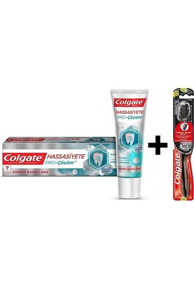 Colgate Hassasiyet Pro Çözüm Diş Macunu + 360 Charcoal Siyah Diş Fırçası