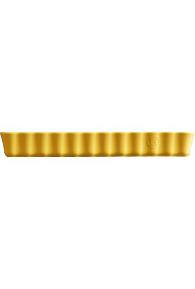 Emile Henry Uzun Tart Kalıbı Sarı