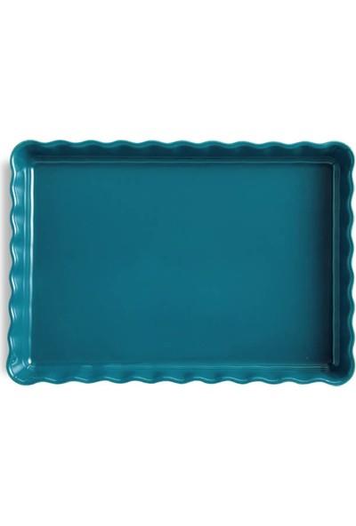 Emile Henry Tart Kalıbı Dikdörtgen Mavi