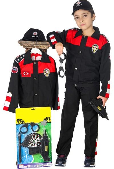 Oulabimir Yunus Polis Kostümü Çocuk Üniforması Kırmızı
