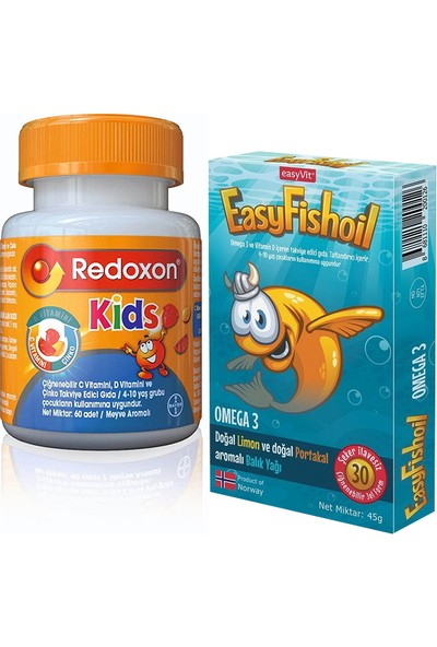 Redoxon Kids + Easyfishoil Omega3 2'li Set