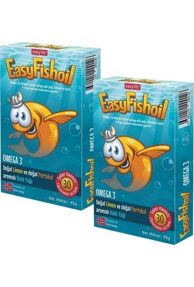 Easyvi̇t Easyfishoil Omega 3 Çiğnenebilir 30 Jel Tablet 2'li Set