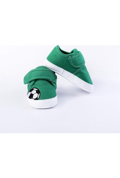 Fi̇rst Step Futbol Topu Desenli Ayakkabı Yeşil G-2121