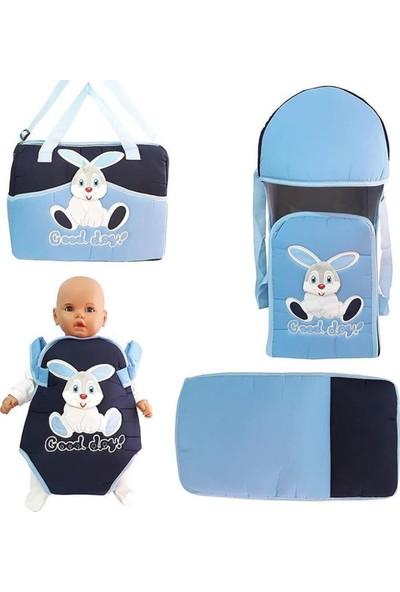 Bebek Odam Bebek Kanguru Portbebe 4'lü Taşıma Seti - Mavi