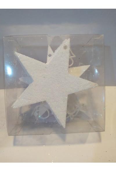 Mavi Boncuk Yılbaşı Noel Ağacı Dekor Yıldız Süs
