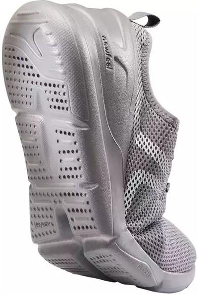 Newfeel Gri Yürüyüş Koşu Spor Ayakkabısı Newfell PW100