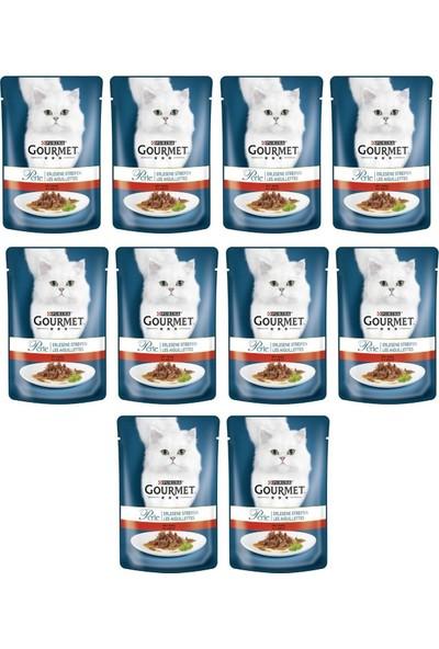 Purina Gourmet Perle 10 Adet Izgara Sığır Kedi Konservesi 85 gr