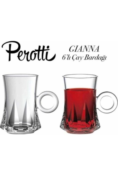 Perotti Gianna 6'lı Cam Çay Fincanı