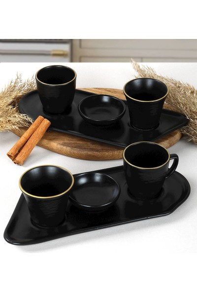 Keramika Gold Line Black Sunum Seti 8 Parça 2 Kişilik