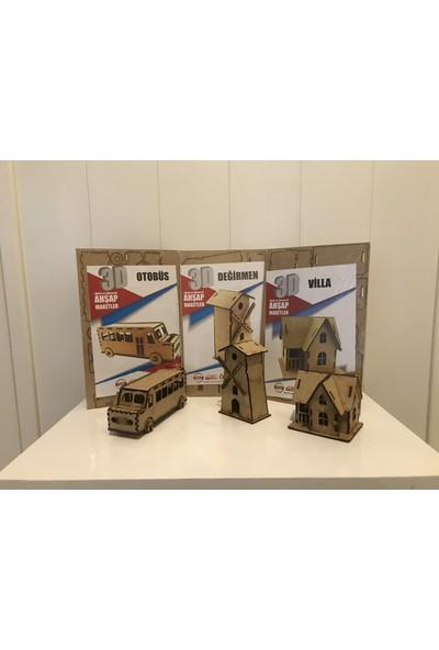 Alsa 3D Ahşap Maket 3'lü Paket