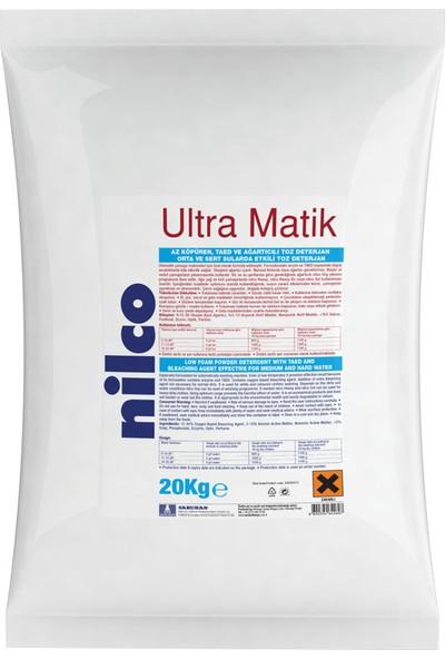 Nilco Ultra Matik Orta ve Sert Sularda Etkili Taed ve Ağartıcı Katkılı Toz Deterjan 20 kg