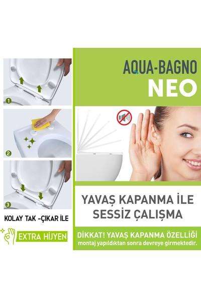 Aqua Bagno Neo Yavaş Kapanan Klozet Kapağı