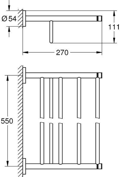 Grohe Essentials Çoklu Banyo Havluluğu 40800A01