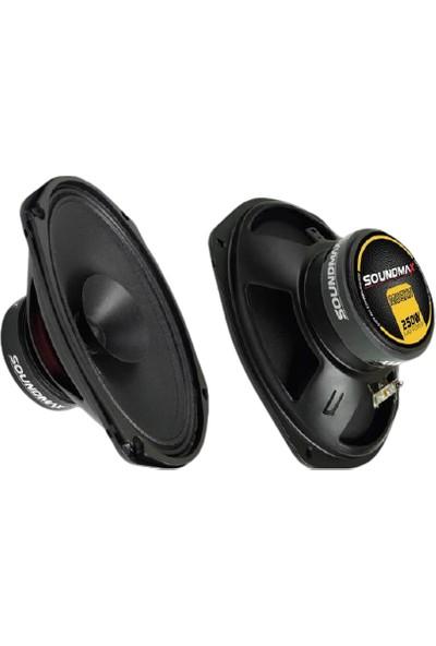 Soundmax M69XH 6*9 Oval Oto Midrange 250 Watt 100 Rms
