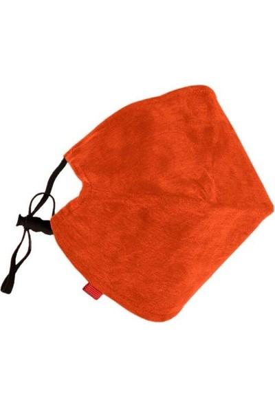 Monopro Vegan Cupro Klipsli ve Telli Turuncu Antibakteriyal Yıkanabilir Maske