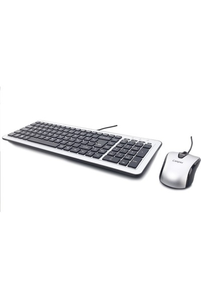 Casper Nirvana KM310 USB Q Standart Gümüş Klavye Mouse Set