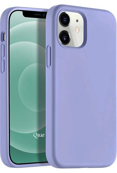Quse Apple iPhone 12 (6.1'') Soft Touch Liquid Silikon Kılıf Lila