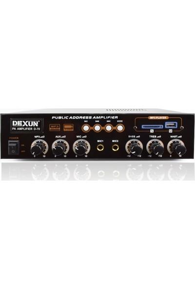 Dexun D-70 60W 100 Volt Mıxer Amplıfıer