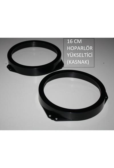 16 cm Yuvarlak Hoparlör Yükseltici-Plastik Kasnak 2 Adet