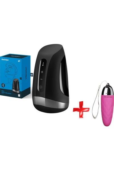 Satisfyer Men Heat Vibration Otomatik Isıtmalı 11 Modlu Titreşimli Mastürbatör+Mini Vibratör