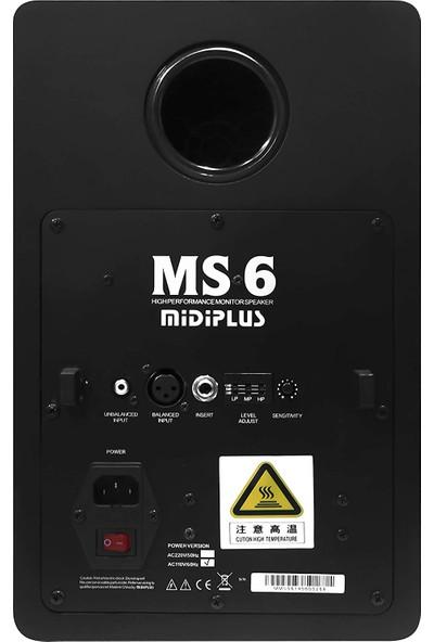 Mıdıplus Ms6 6 Inç 80W Aktif Stüdyo Monitörü (Çift)