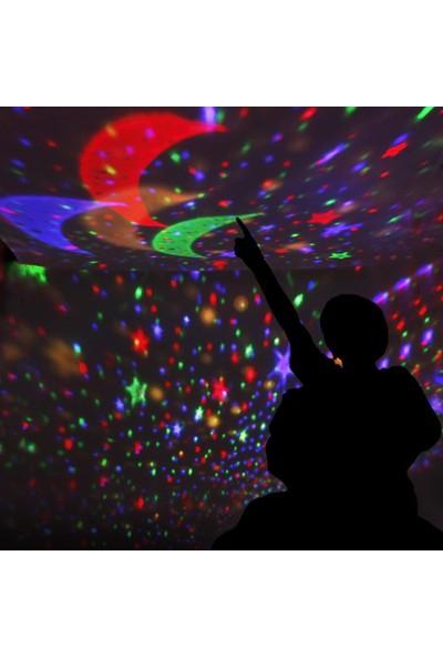 Star Master Dönen Projeksiyon Işıklı LED Yıldızlar Gece Lambası