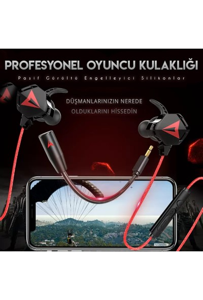 Xrades Kulak Içi Mikrofonlu Mobil Pubg Kulaklığı Type-C