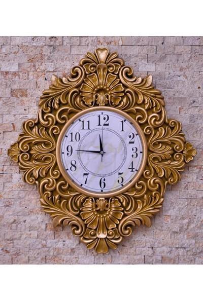 DOĞRU Duvar Saati Gold Rengi