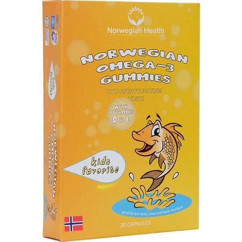 Norwegian Health Omega-3 Gummies 30 Kapsül Çiğnenebilir Balık Yağı