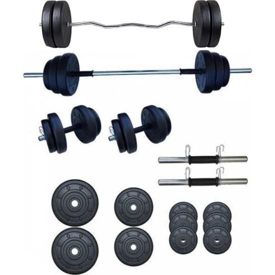 Smyrna 45 kg Halter-Ağırlık ve Dambıl Seti + Z Bar
