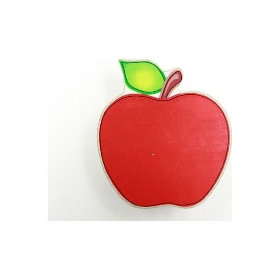 Almital Mobilya Aksesuarları Ahşap Çocuk Kulp Kırmızı Elma 01-01-62