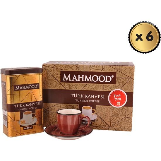 Mahmood Coffee Türk Kahvesi +Fincan 220 gr x 6 Paket (1 Koli)