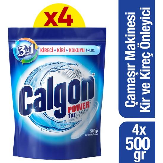 Calgon Çamaşır Makinesi Kireç Önleyici Toz 500 gr x 4 Adet