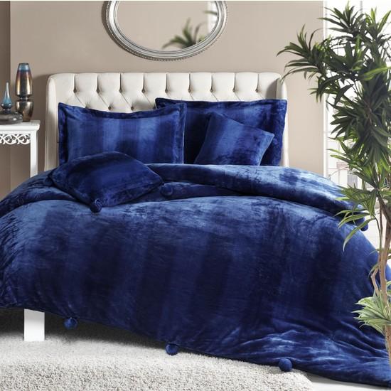 Stanley Hamilton Comforter Çift Kişilik 5 Parça Yatak Örtüsü 255x225 MAVİ